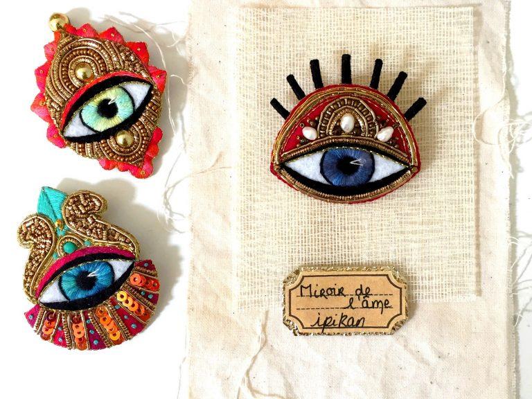 ipikan cabinet de curiosités brodées interview bijoux brodés main